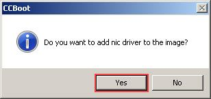 Do you want to add nic driver to image