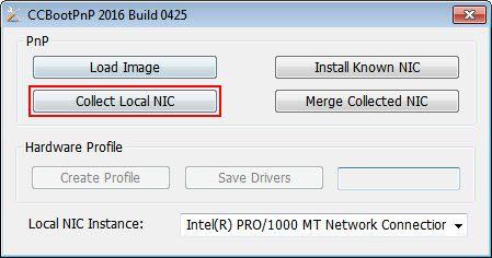 add new machine collect nic
