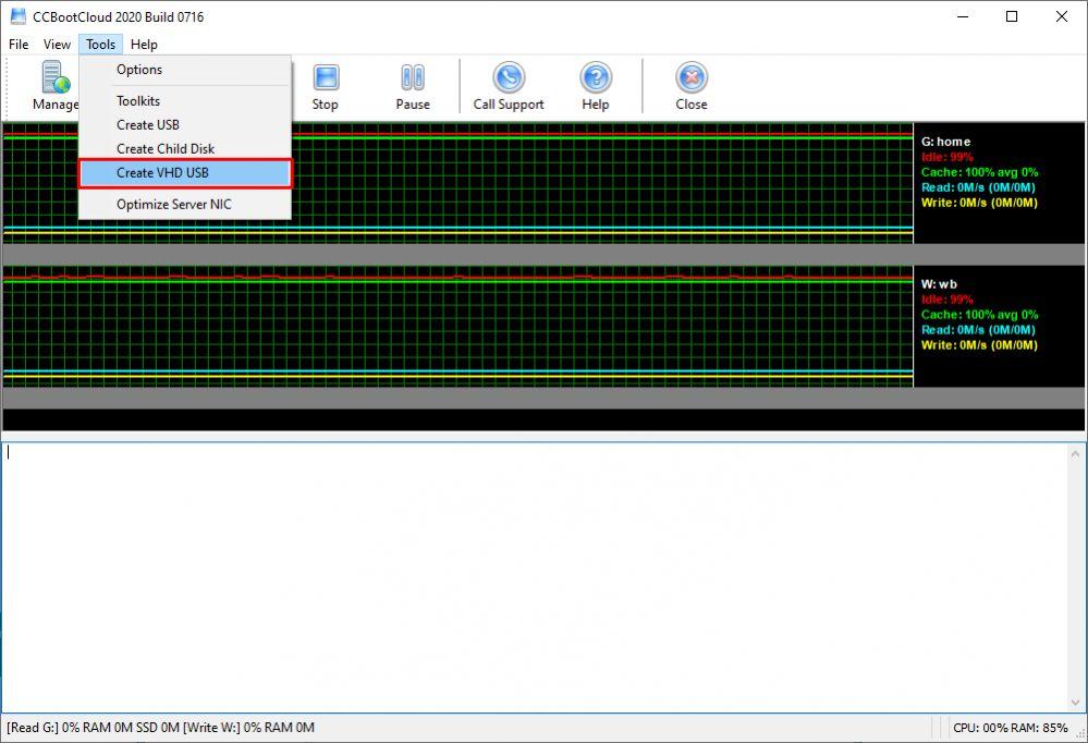 CCBootServer-create VHD USB