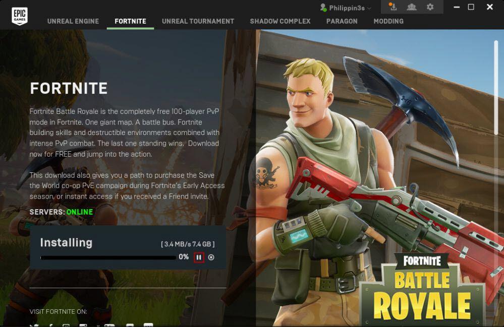 epic games server