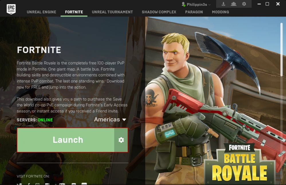 how to install  u201cfornite u201d game by epic games on ccboot client