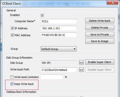 CCBoot Multi Hardware Profile