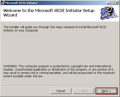 Version of the microsoft iscsi software initiator the microsoft iscsi