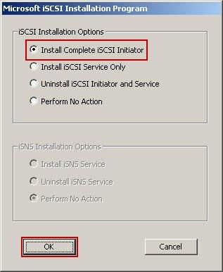 Microsoft ISCSI Installation Program