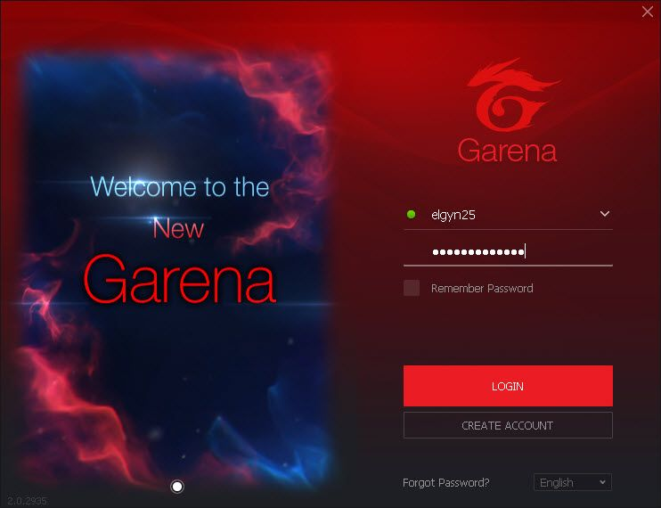 Once in superclient open your gamedisk garena folder, open garena client  login your account (Figure 2).