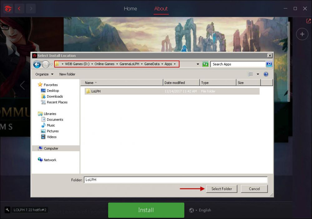 How to Fix garena client showing install in client PC