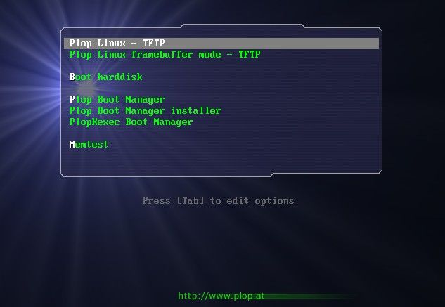 Plop Linux with CCBoot