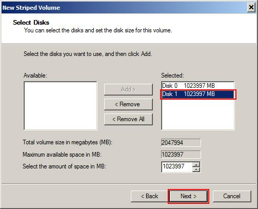 Disk selection
