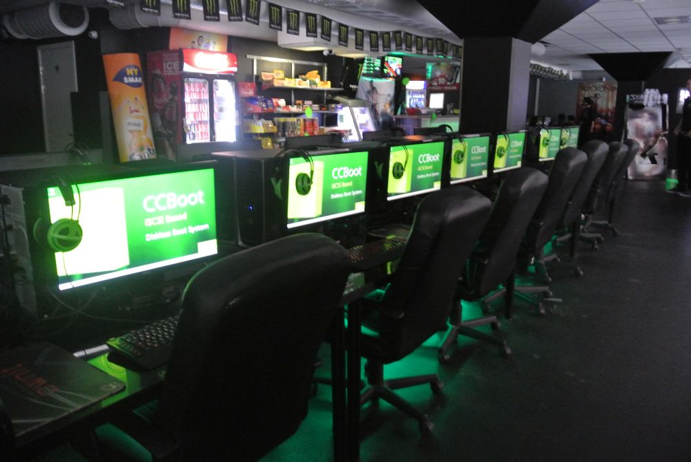 CCBoot Successful Case in a Sweden Cyber Cafe