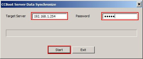target server ip and password
