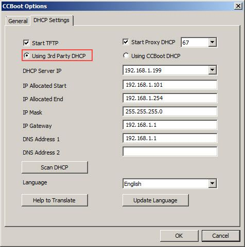 Using 3rd party DHCP