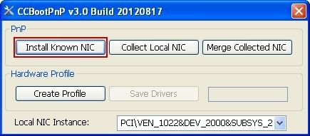 Install Known NIC