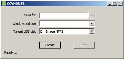 Create VHD USB