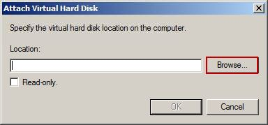 Attach Virtual Hard Disk