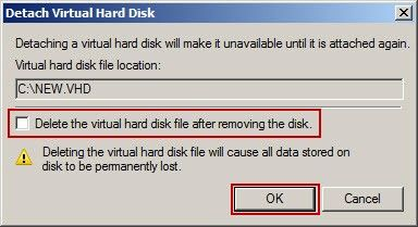 Detach Virtual Hard Disk