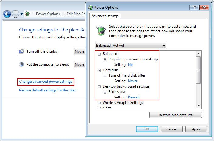 Client Power Setting