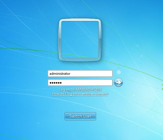 login to windows 7 as local administrator
