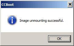 Image unmounted